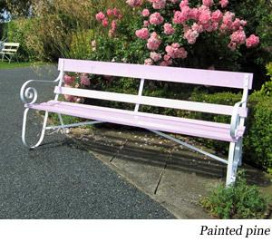 Bespoke Wrought Iron And Wood Garden Bench Seats Handmade
